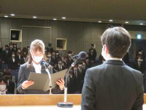 令和3年度「入学式」を行いました☆ class=